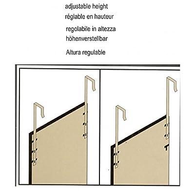 Weiße Türspiegel ohne Löcher 37x128 cm.