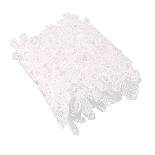 (sourcingmap® Polyester Retro Stil Kleidung Rock Rand Nähen Spitze Trimmen weiß 2,2 Yards)