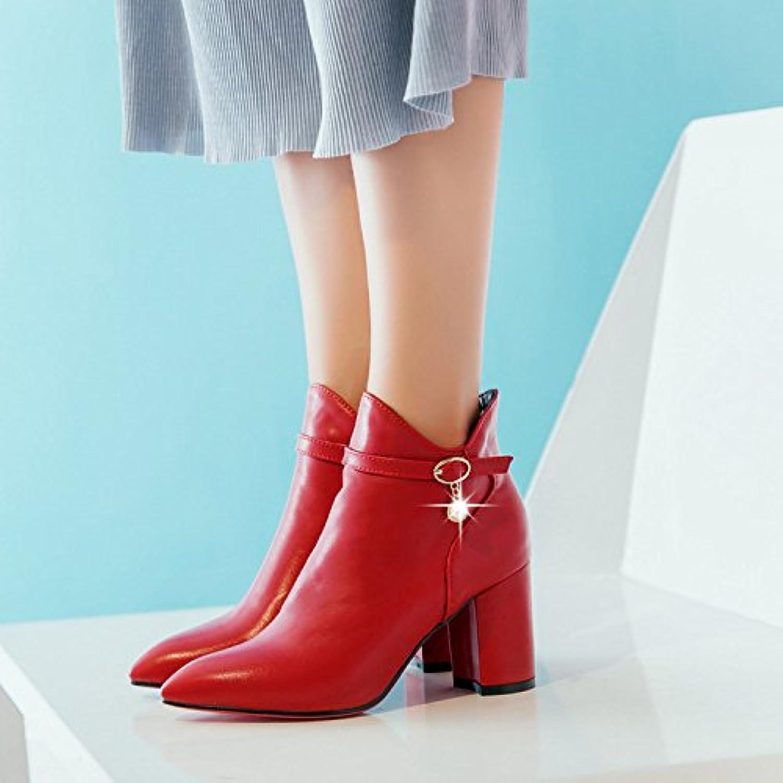 2ed6fbde0714ff khskx seule botte et bottines à talons talons talons haut rouge au printemps  des chaussures de mariage fermeture court bottes b077p24tjv parent   Les ...