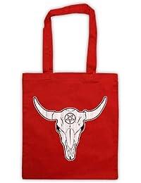 Buffalo Skull Illustration Bolsa de Asas, Rojo