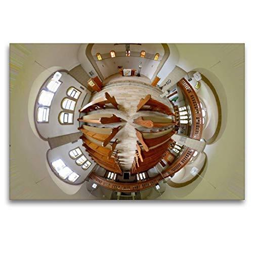 CALVENDO Tela in Tessuto di Alta qualità, 120 cm x 80 cm Orizzontale, con Chiesa Brasiliana in Bielefeld, Immagine su Telaio a Cunei, su Vera Tela, Stampa su Tela Hobbys Hobbys