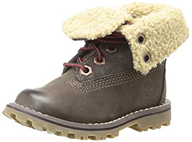 Timberland Authentics FTK_6 In WP Shearling Boot 6278R, Unisex-Kinder Stiefel, Braun (Dark Brown), EU 33 (US 1.5)