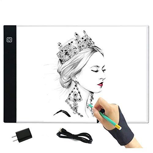 , A4 tragbare Zeichnung Kopie Tracking Light Box USB Powered Licht mit Helligkeit einstellbar für Zeichnung, Animation, Skizze, Design ()