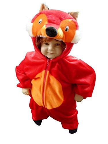 Fuchs-Kostüm, F21 Gr. 80-86, für Klein-Kinder, Babies, Fuchs-Kostüme Füchse Kinder-Kostüme Fasching Karneval, Kleinkinder-Karnevalskostüme, Kinder-Faschingskostüme, Geburtstags-Geschenk