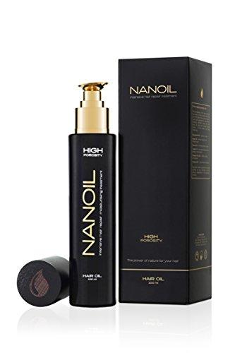 Nanoil Haaröl für Haare mit hoher Porosität – Haaröl für strapazierte, trockene, brüchige, matte, colorierte und aufgeblähte Haare