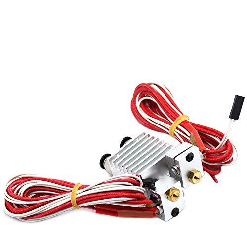 H.Y.FFYH Druckerzubehör Doppelkopf 2 In 1 Out J-Head Remote Extruder 3D-Drucker Extrusionsteile Hot End Alle Metall-Kühlkörper 1,75 mm 0,4 mm -