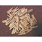 Mini Pinzas Madera, natural, 30 mm, 25 Piezas