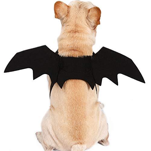 Pet Kostüm Batman - CHIRORO Halloween Haustier Bat Wings Kostüm Hund Katze Cool Batman Outfits Cosplay Party Kleidung,S