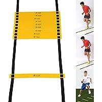 Multiware 6M 12-Rung Échelle De Rythme Pour Sport Basketball Football Rapidité Echelles De Vitesse Exercices Coordination Jaune