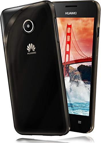 moex Huawei Ascend Y300 | Hülle Silikon Transparent Grau Clear Back-Cover TPU Schutzhülle Dünn Handyhülle für Huawei Y300 Case Ultra-Slim Silikonhülle Rückseite