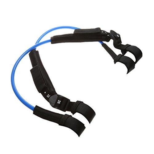 2 Stück Einstellbar Windsurf Waist Harness Line Hüfttrapez - Blau, 22-28 Zoll