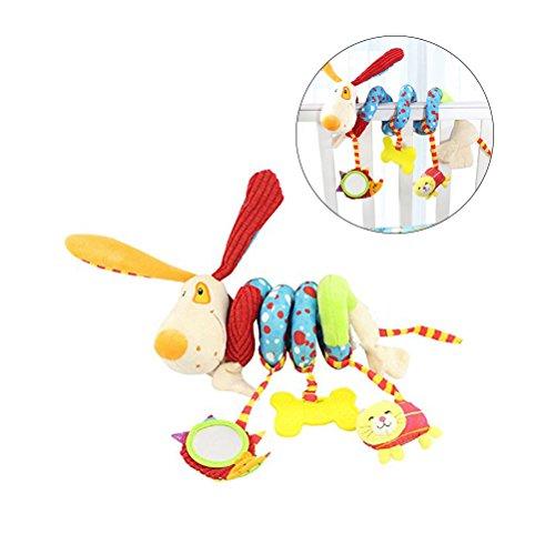 Yeahibaby Puppy Dog Bebé Cuna Bebé Toy Envolver alrededor Crib Rail Toy Cochecito Juguete Cute Bebé...
