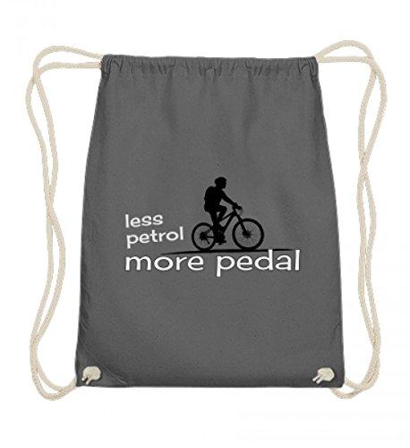 Preisvergleich Produktbild Hochwertige Baumwoll Gymsac - ökologischer Fahrrad-Fahrer - kein Benzin, mehr Pedal - less petrol, more pedal. Für mehr Klimaschutz und weniger CO2
