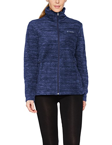 Columbia Fleecejacke mit durchgehendem Reißverschluss für Damen, Fast Trek Printed Jacket, Polyester, dunkelbalu (Soft Violet Spacedye), Gr. XL, EL1012 (Columbia-fleece-jacken Frauen)