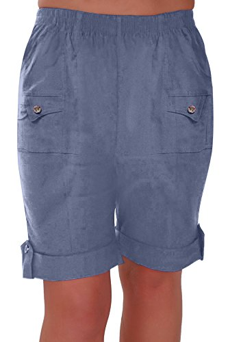 Skye Damen entspannten Komfort Elastische Flexi Stretch Frauen Shorts Übergröße 40 - 52 Petrol