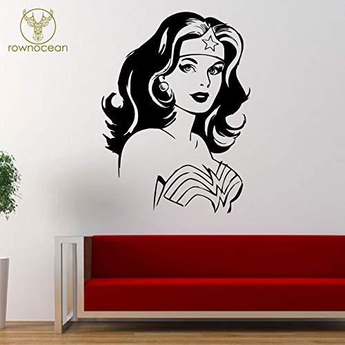 Liga Justicia Wonder Woman Etiqueta Pared Vinilo Decoración