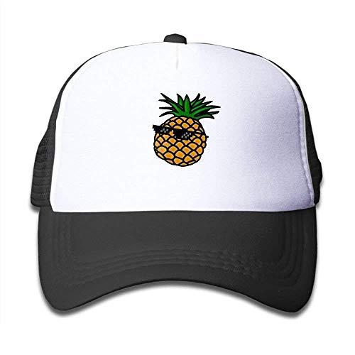 FGHJKL Mesh Baseball Caps Boy&Girl Youth Snapback Hats Glasses Pineapple