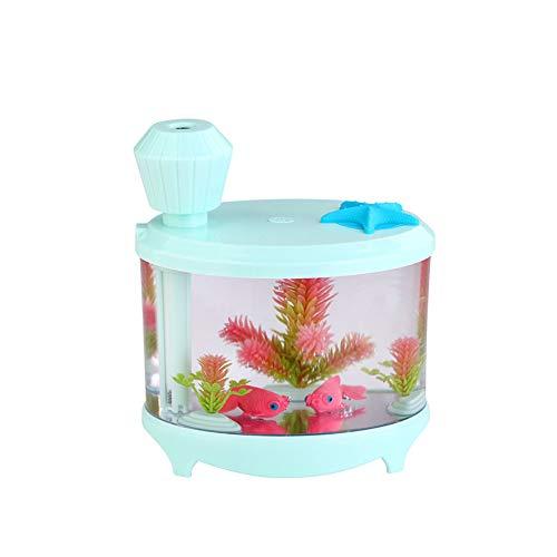 Beito Fish Tank humidificador Verde con el Aire del difusor del purificador del LED Fabricante de la Niebla Decoración Acuario USB humidificador