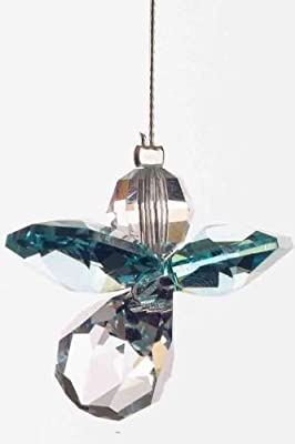 Swarovski Hanging Crystal Guardian Angel Birthstone Suncatcher DECEMBER - BLUE ZIRCON