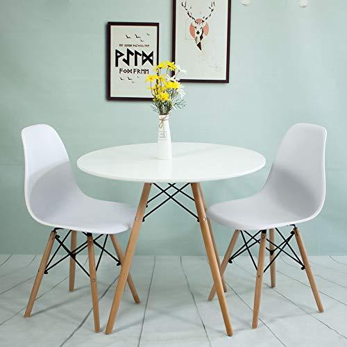 Generic E Tables Set Office ffice Coffee MeetingR runder Esstisch für Kaffee, Meetingroom und Büro mit Stühlen, Tisch mit weißen Tischen (Kaffee Tisch Stühlen Runder Mit)