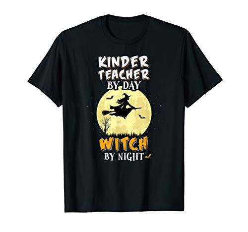 Kindergarten Lehrer Am Tag Hexa Bei Nacht T-Shirt Schule T-Shirt