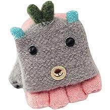 Malloom guantes para niños para el frio guantes para niños de 6 años  guantes para niños para la nieve guantes para niños sin dedos Voltear los  guantes de ... ac2482e1423