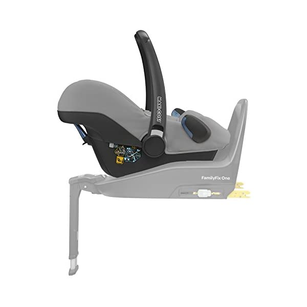 Maxi-Cosi Rock i-Size Baby Car Seat, Nomad Grey with Raincover for Baby Car Seat, Transparent and Back Seat Car Mirror Maxi-Cosi High safety rating: complies with the latest i-Size (R129) car seat legislation Baby-hug inlay offers a better fit and laying position for new-born's Designed to fit onto the maxi-cosi pebble plus, pebble and cabriofix baby car seats 4