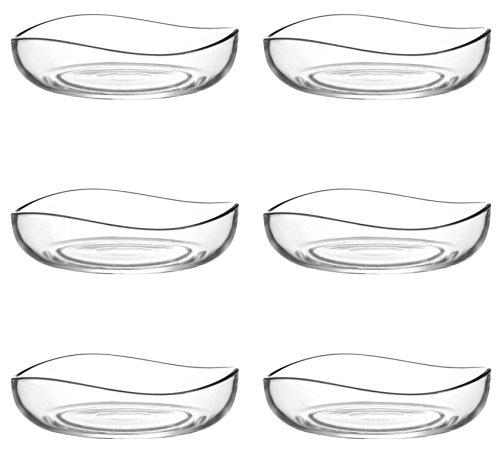 LAV 6tlg Glasschalen Vira Schalen Glasschale Dessertschale Vorspeise Glas Gläser Durchmesser 120ml