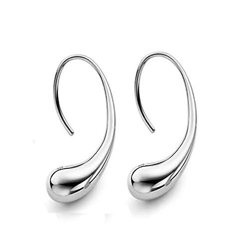 Boucle d'oreille Yogogo, 2017 Nouvelle Mode Femmes élégantes 925 Sterling Silver Ear Stud Earrings (Argent)