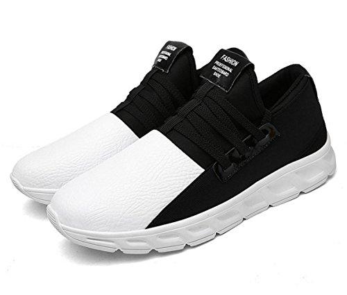 WZG nouveaux sports d'hiver pour hommes chaussures de course mis les pieds chaussures paresseux chaussures étudiants étirer chaussures de mode coréenne White