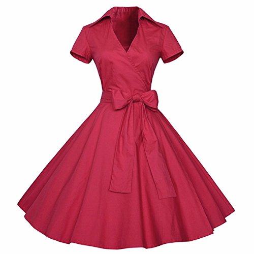 billy Kleid 1950er Retro Polka Dots Faltenrock Petticoat Party Cocktailkleid (60er-jahre-stil Für Frauen)