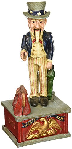 design-toscano-uncle-sam-cast-iron-mechanical-bank