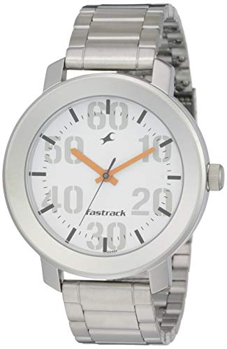 Fastrack Casual Analog White Dial Men's Watch -NK3121SM01