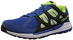 Columbus Mens Royal Blue, Black and Silver Mesh Running Shoes - 7 UK (PENDRIVE)