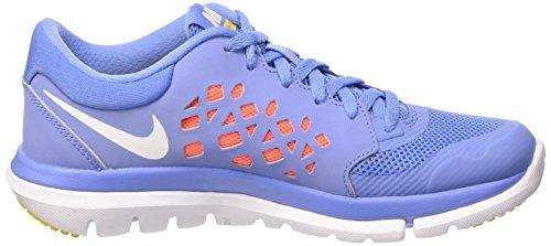 Nike Wmns Flex 2015 Rn Scarpe da ginnastica, Donna Multicolore (Chlk Bl/White-Hypr Orng-Vrsty)
