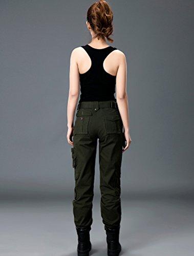 MatchLife Lovers Sport Camouflage Straight Pantalon Style1-Armée Verte