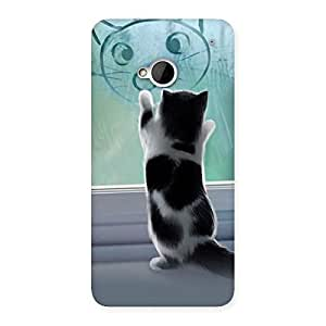 Gorgeous Cute Kitty Face Print Back Case Cover for HTC One M7