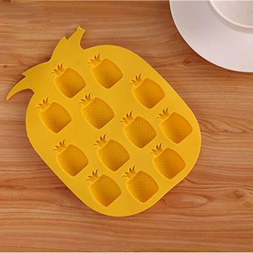 WANGTGG Ice Maker Mould Bar Party Drink Ice Tray Silicone Pineapple Shape Ice Cube Freeze Mold Ice Cream Tubs (Süßigkeiten Keine Halloween Brief)