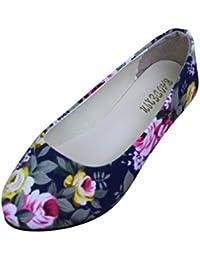 MISSMAO Chinesische Bestickte Schuhe Elegant Mary Jane Halbschuhe Sommer Sandalen Ballerina Espadrilles Flats...