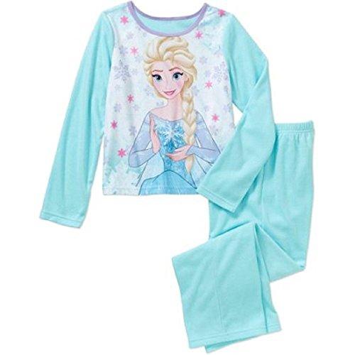Girls Frozen 2 Piece Sleepwear Set (XS 4-5, Blue)