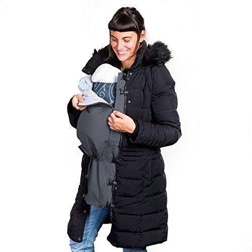 Jackenerweiterung   mach Deine Jacke zur Umstandsjacke oder Tragejacke   für Jede Jacke & Konfektionsgröße   für Schwangerschaft & Baby-Tragezeit   Allwetter Jackeneinsatz