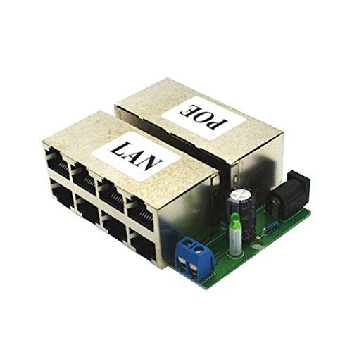 Fornateu 8 Port DC 12-48V Power Over Ethernet 10 / 100Mbps Beschleunigt POE Stromversorgungsmodul ohne Außenschale -