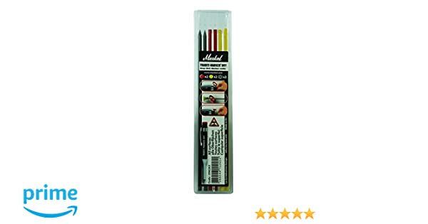 MIXED COLOURS PICA DRY REFILLS 4 GRAPHITE, 2 RED, 2 YELLOW