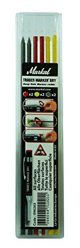 markal-96263-trades-marker-dry-markierstifte-set-mit-6-minen-gemischt-2-minen-graphit-2-minen-rot-2-