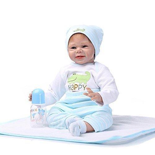 Yesteria Reborn Babypuppe Kleidung Junge Zubehör für 50-55 cm Weiße und Hellblaue Hosen