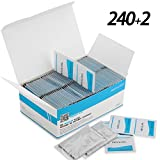 MOSSLIAN Toallitas de Limpieza Ideales para Lentes,Teléfono,Pantallas LCD /240+2