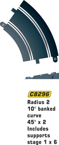 Hornby France - C8296 - Scalextric - Voiture - Courbe relevé 45° R2