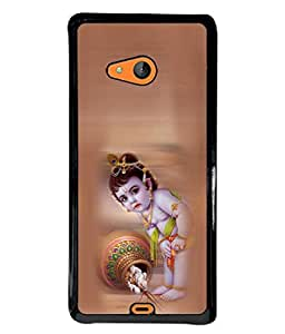 PrintVisa Designer Back Case Cover for Microsoft Lumia 540 Dual SIM (Kanha In Cute Pink Design)