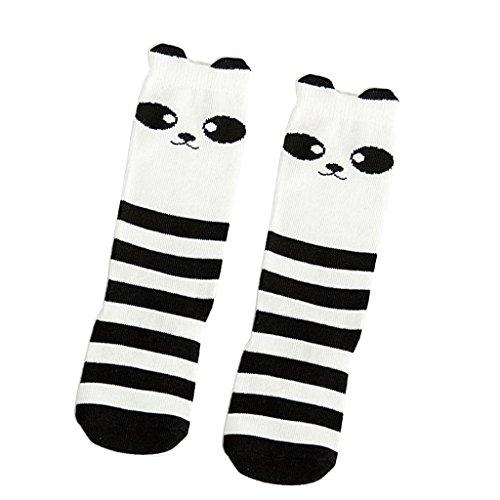 Phenovo Baby Kids Girls Animal High Socks Knee Tights Hosiery Stockings Black&White