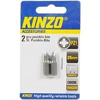 Kinzo 72032 2 Embouts aimantés tête cruciforme pozidriv PZ1 L x 25 mm